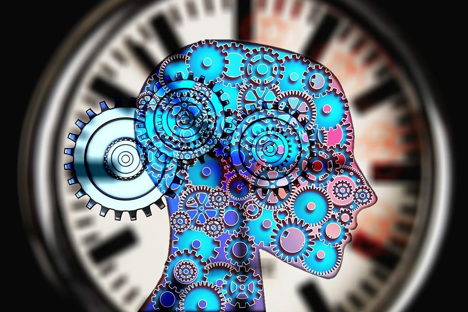 ψυχολογία, κεφάλι, ρολόι