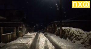 Χιονόπτωση στην Τοπική Κοινότητα Δροσοπηγής (ΒΙΝΤΕΟ)