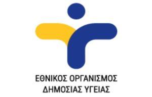 Οδηγίες προς το Κοινό από τον Εθνικό Οργανισμό Δημόσιας Υγείας
