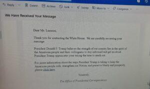 Γράμμα προς τον Ντόναλντ Τράμπ από την Ιωάννα Λαζάρου